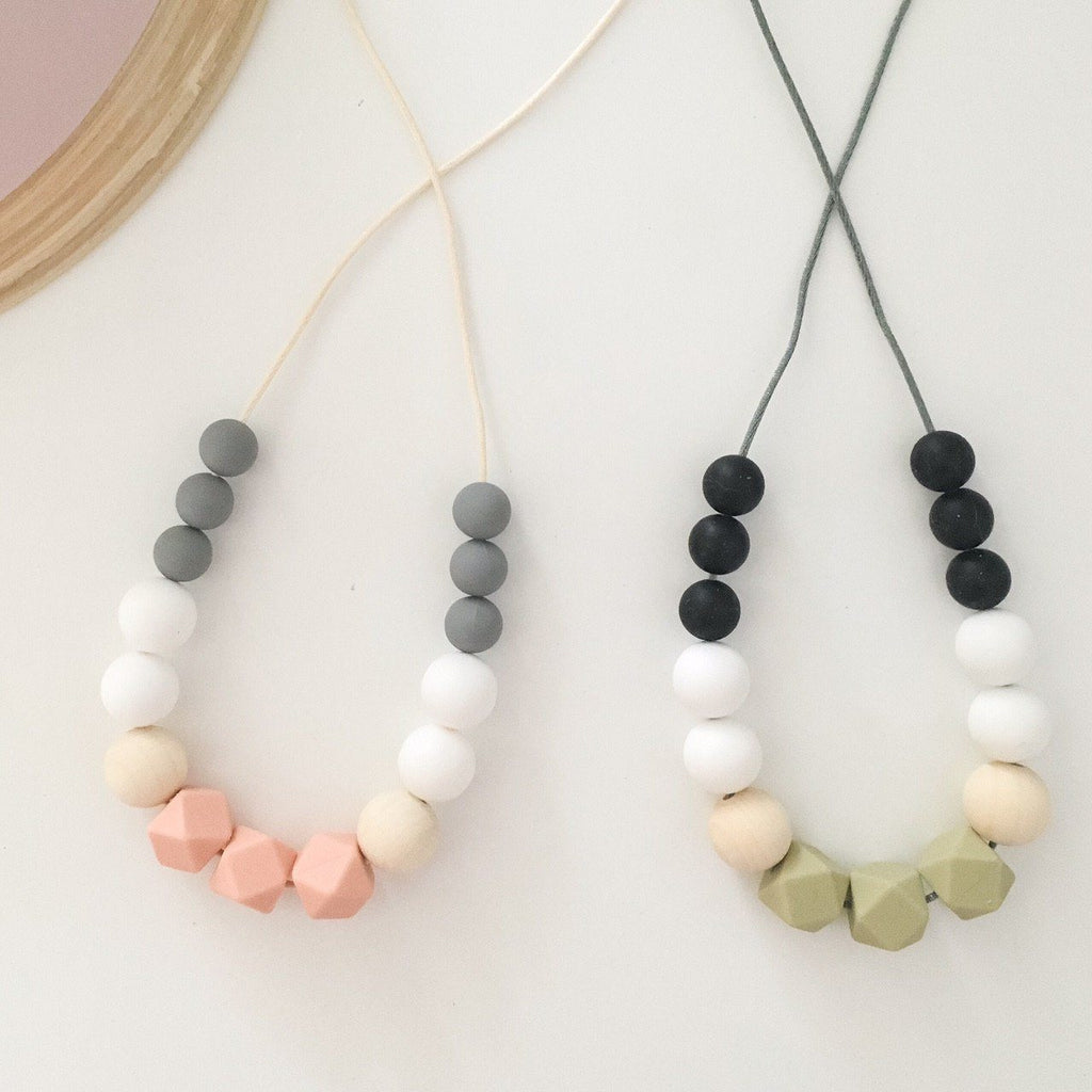 olive teething necklace