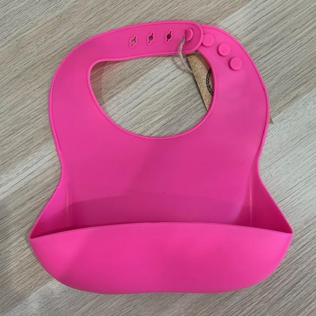 Silicone Bib - Fuchsia Pink - Our Little Helpers