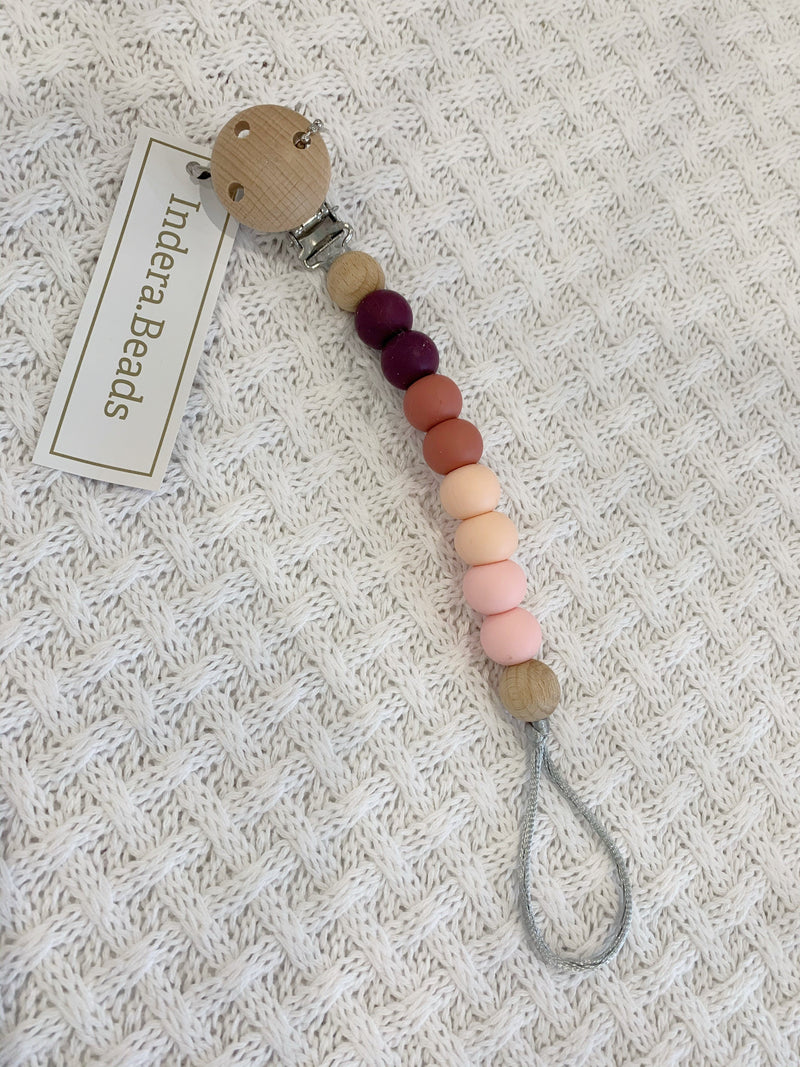 Silicone Dummy Holder - Blush Pink ombre - Indera Beads