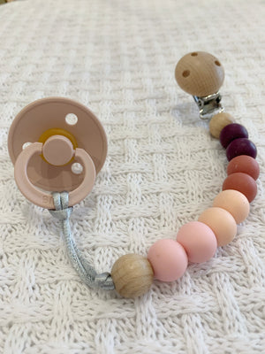 Silicone Dummy Holder - Blush Pink - Indera Beads