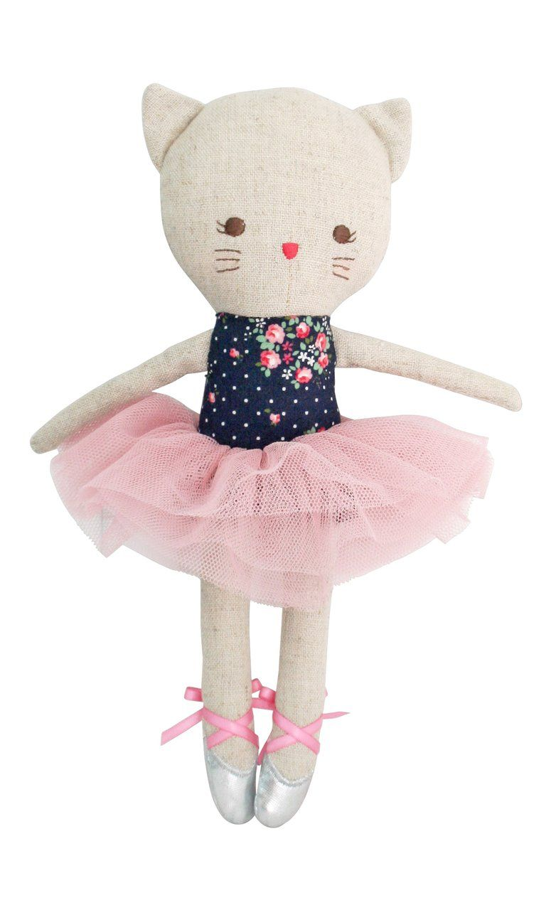 Odette Kitty Ballerina Midnight Floral -  Alimrose