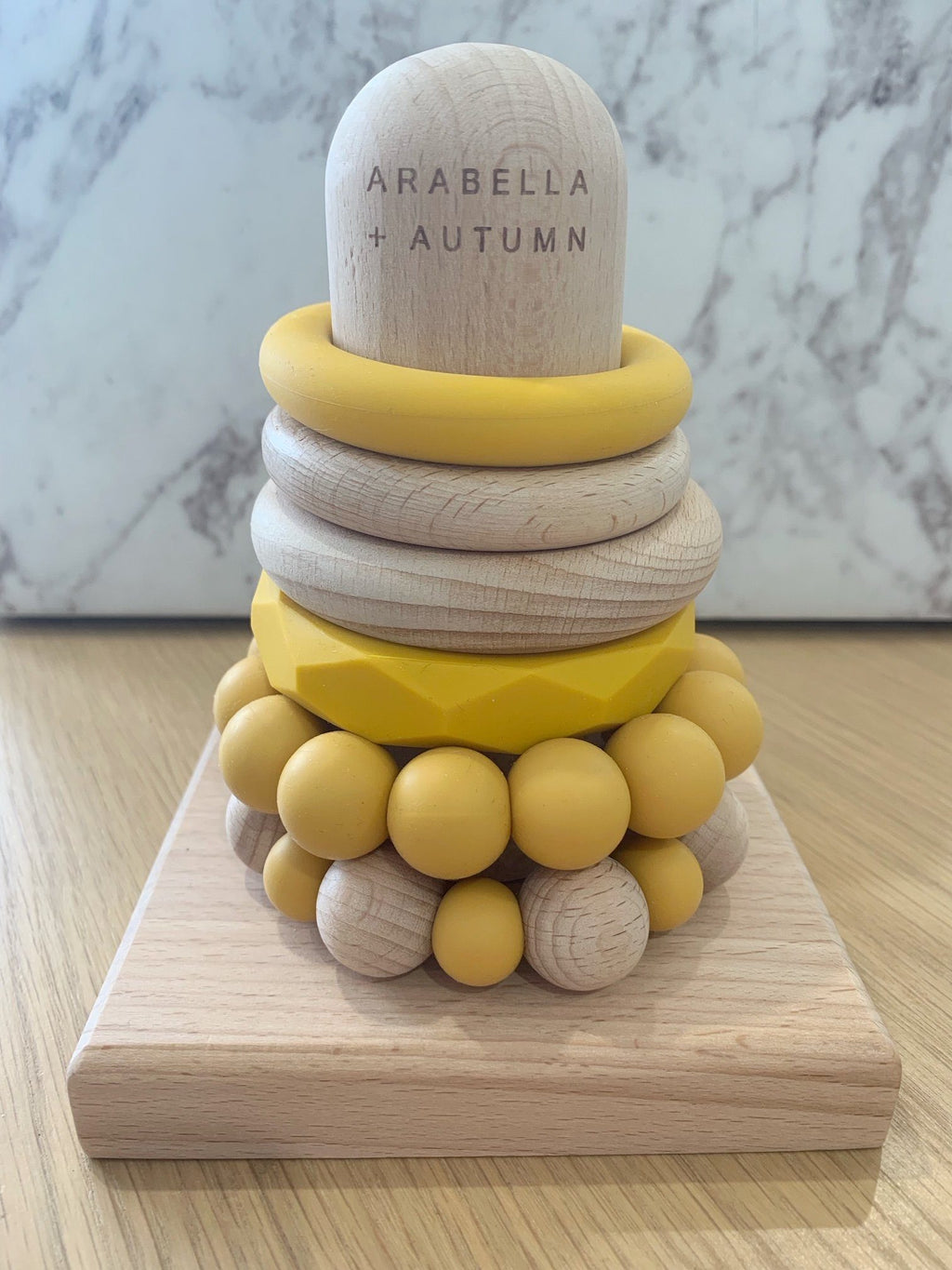 Universe Teething Stacker- Mustard  - Arabella & Autumn
