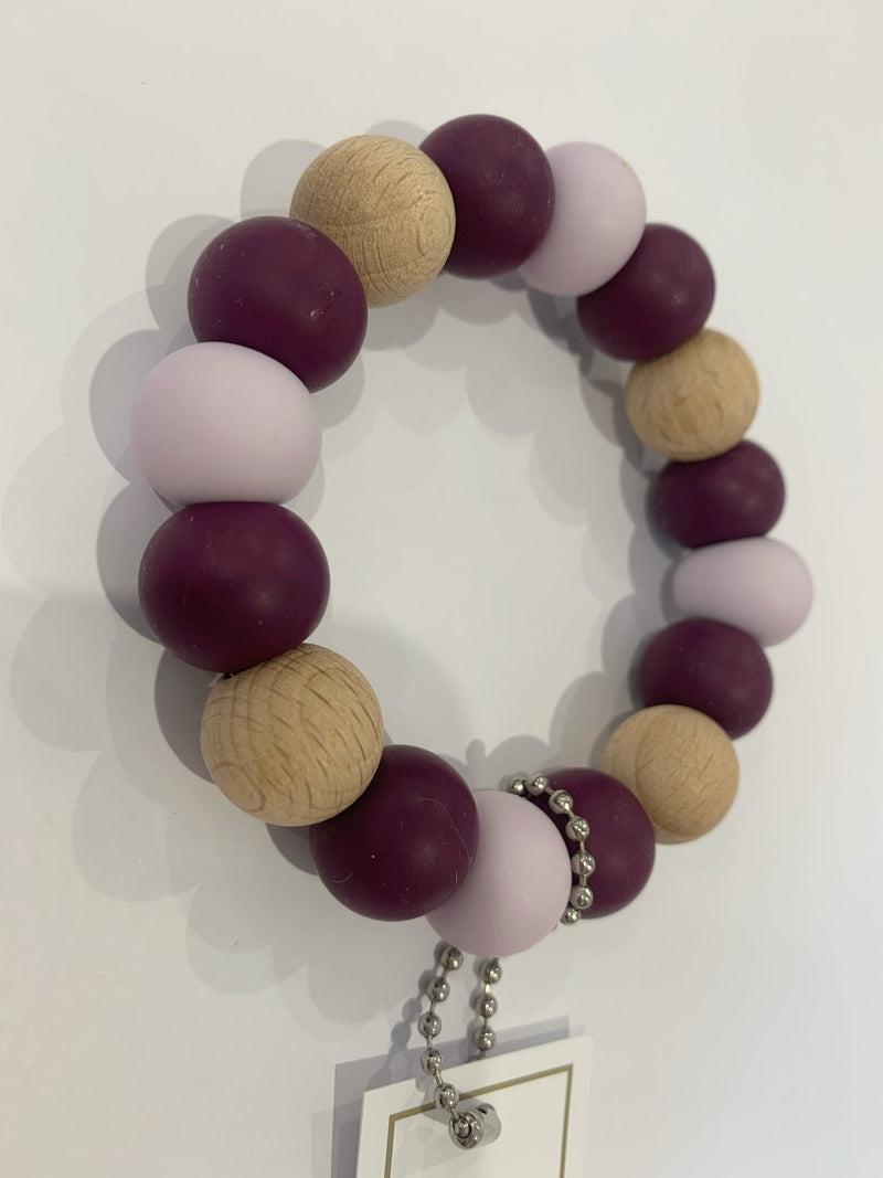 Silicone Teether - Plum - Indera Beads