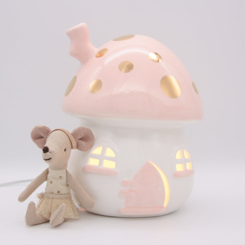 Fairy house Nightlight - Pink & Gold - Little Belle