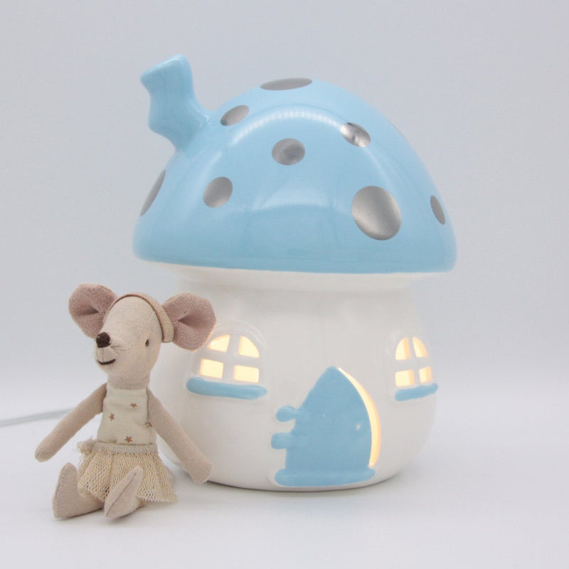Fairy House Nightlight - Blue & Silver - Little Belle