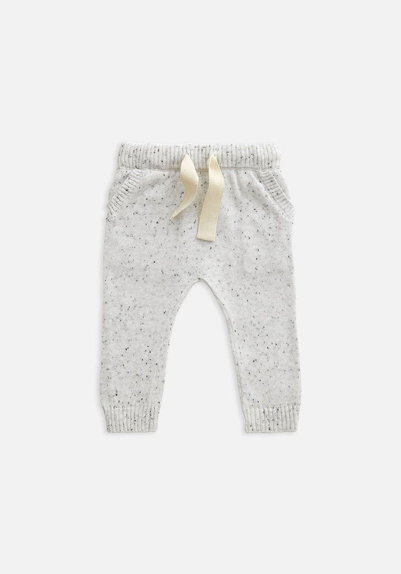 Knitted Pants- Speckled Grey Marle - Miann & Co DISCOUNTED