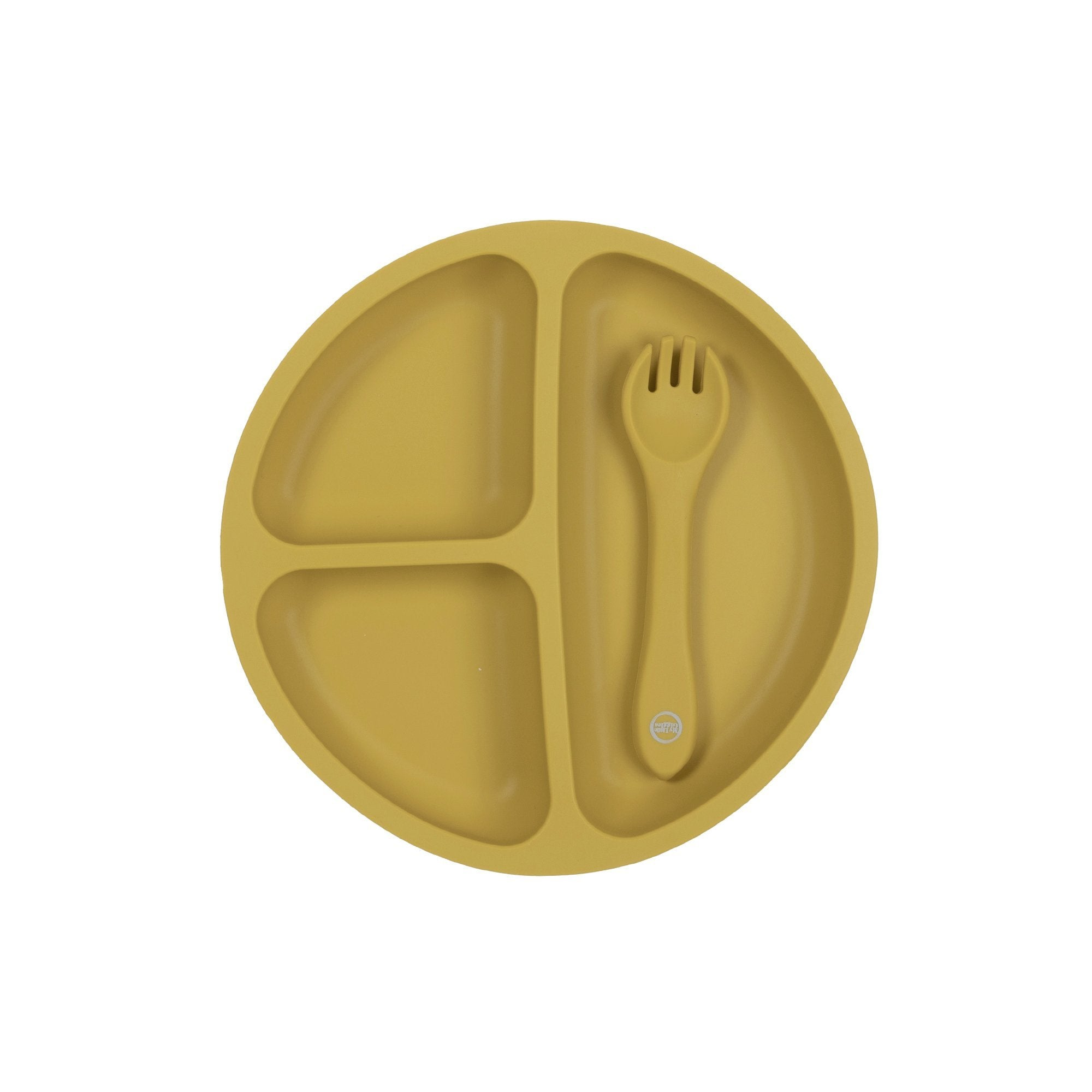 Mustard - Suction Plate & Spoon Set - My Little Giggles