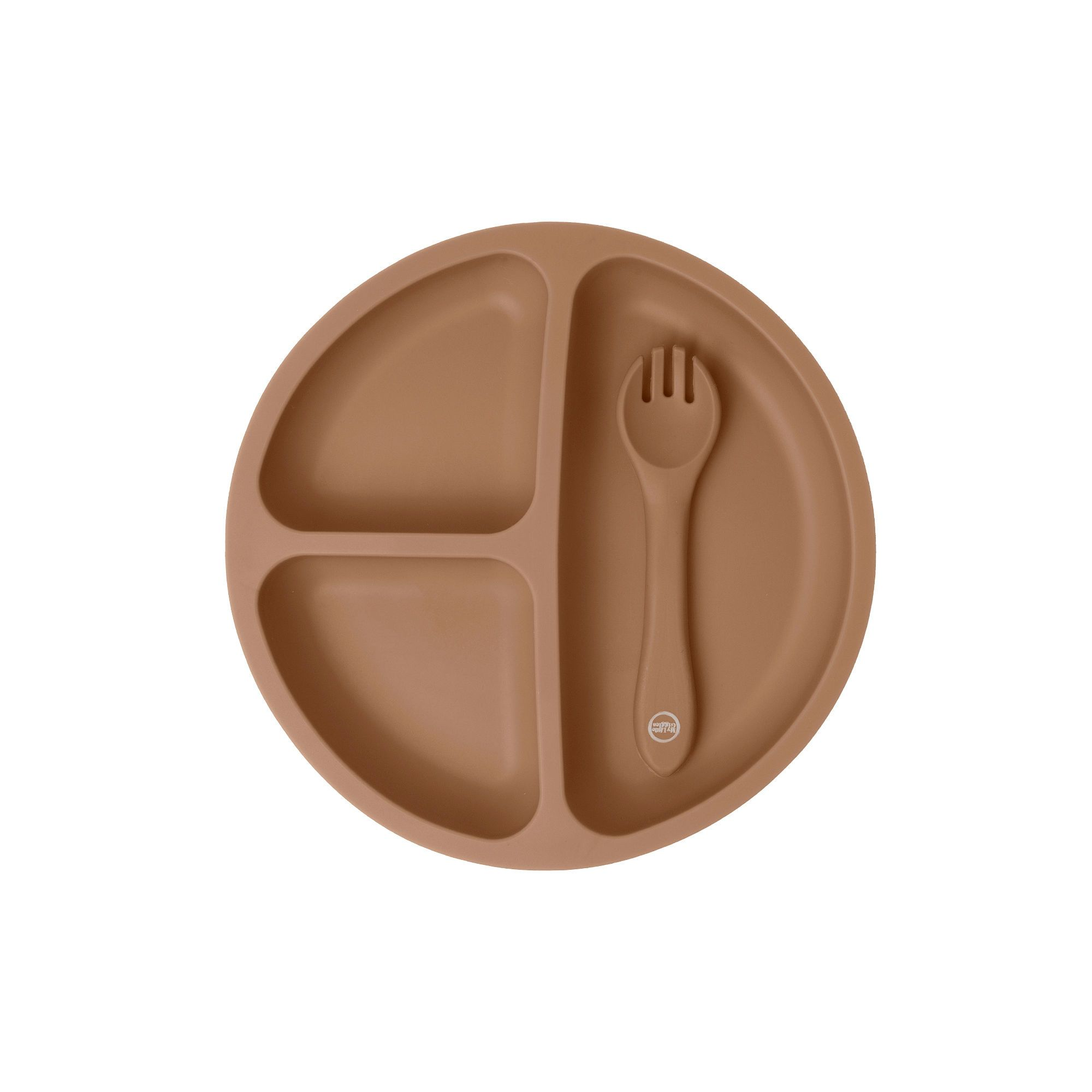 Clay Suction Plate & Spoon/Fork Set - My Little Giggles