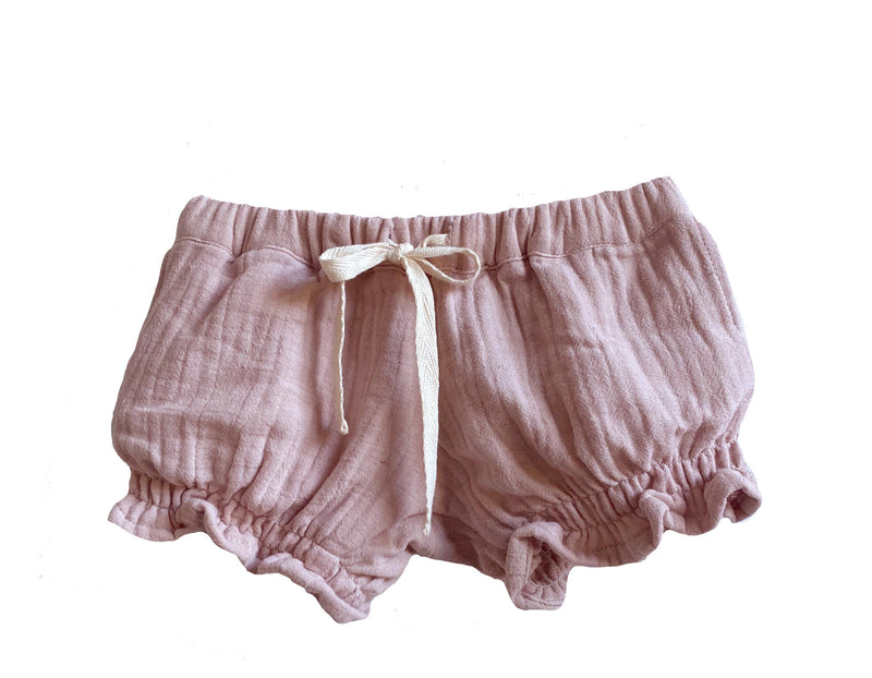 Musk Pink Shirred Shorts - Dukes & Duchesses