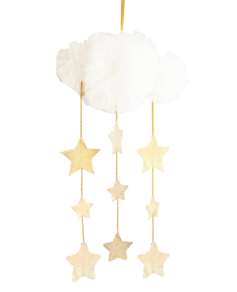 Tulle Cloud mobile- ivory & gold - Alimrose