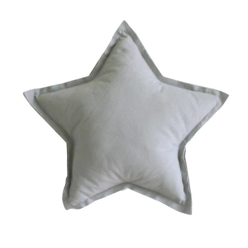 Linen Star Pillow 40cm Grey - Alimrose
