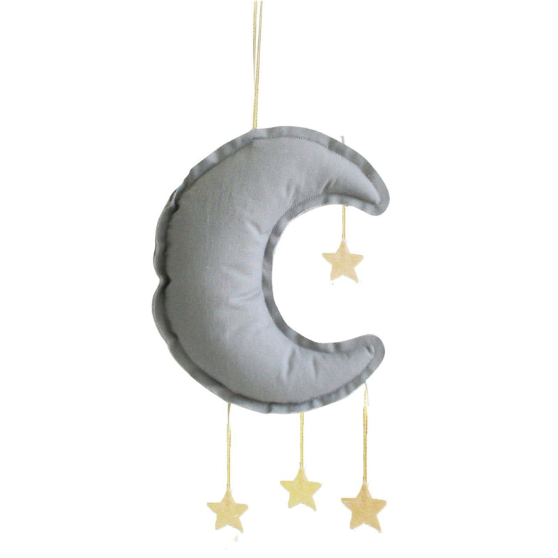 Linen Moon Mobile 40cm Grey - Alimrose