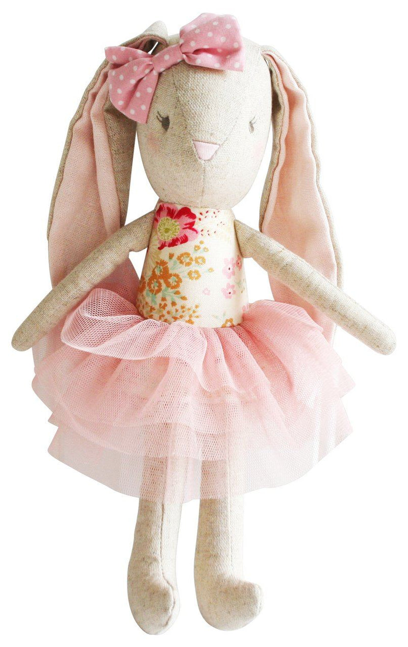 Linen baby pearl toy blush