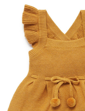 Knitted Pinafore - Autumn - Pure Baby