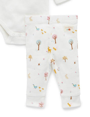 Woodland Bunny -3 piece gift set - Pure Baby