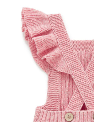 Knitted Bodysuit - Ruffle Pink - Pure Baby