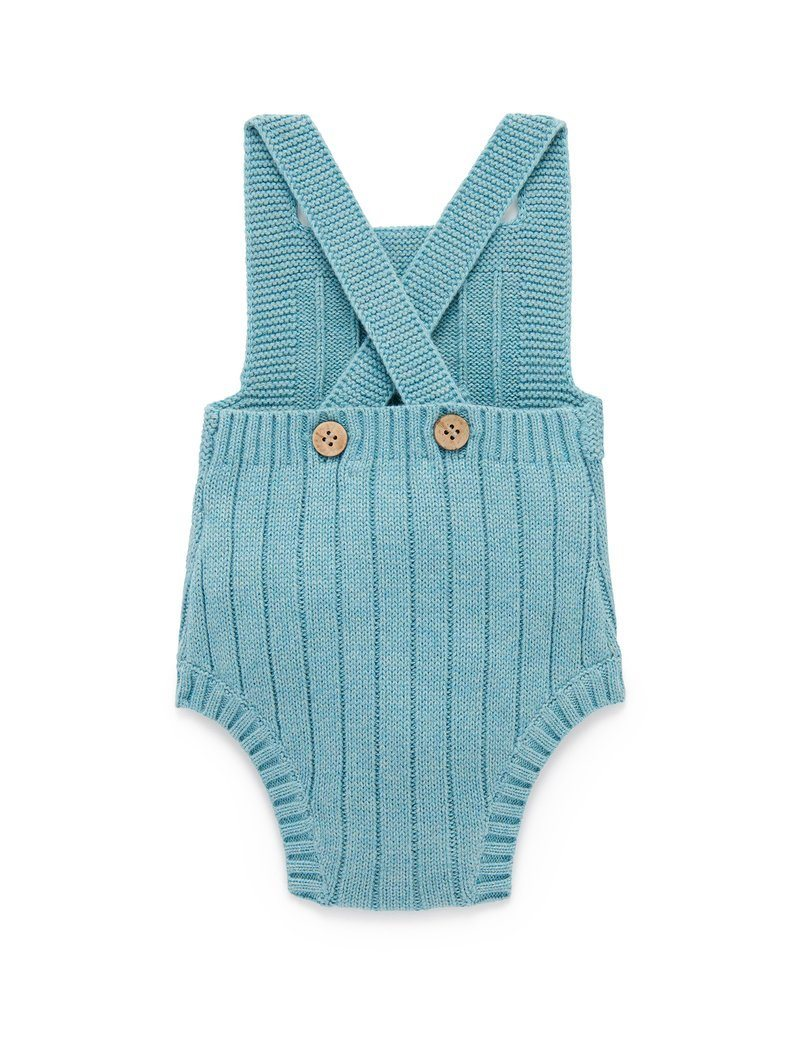 Knitted Bodysuit - Sea Blue - Pure Baby