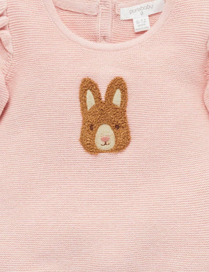 Bunny Jumper - Pink - Pure Baby
