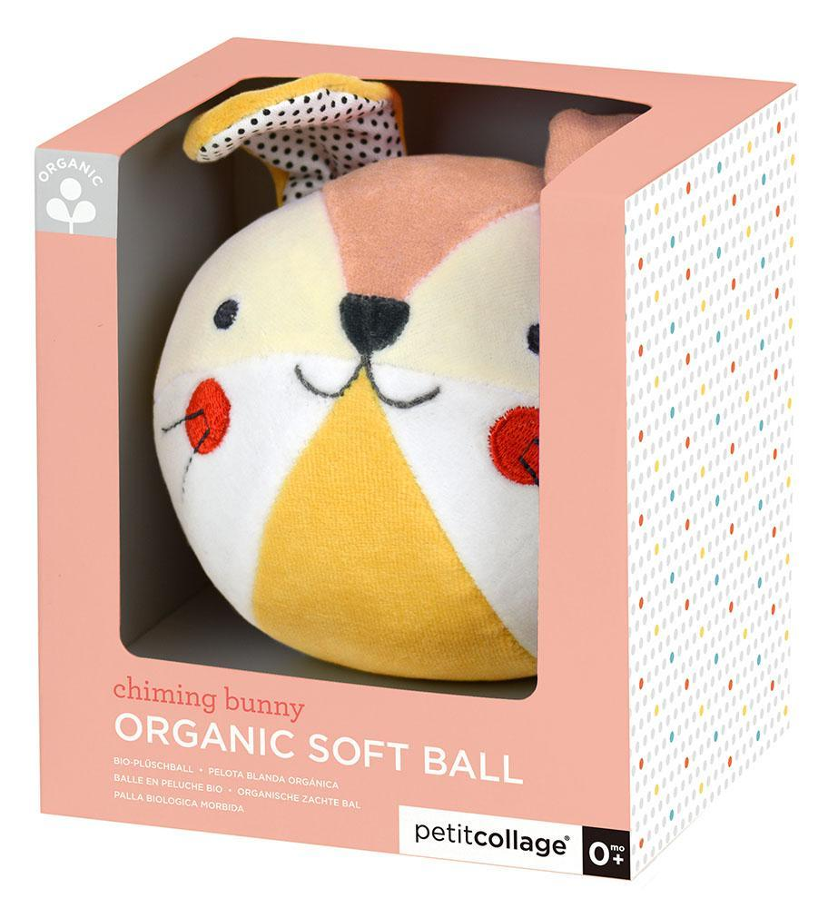 Bunny organic soft chime ball - Petit College