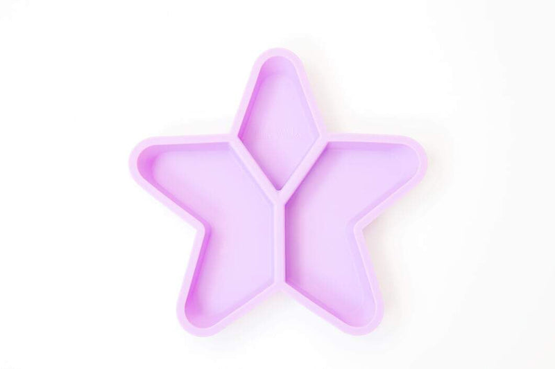 Silicone Divided Star Plate- Purple- Little Woods