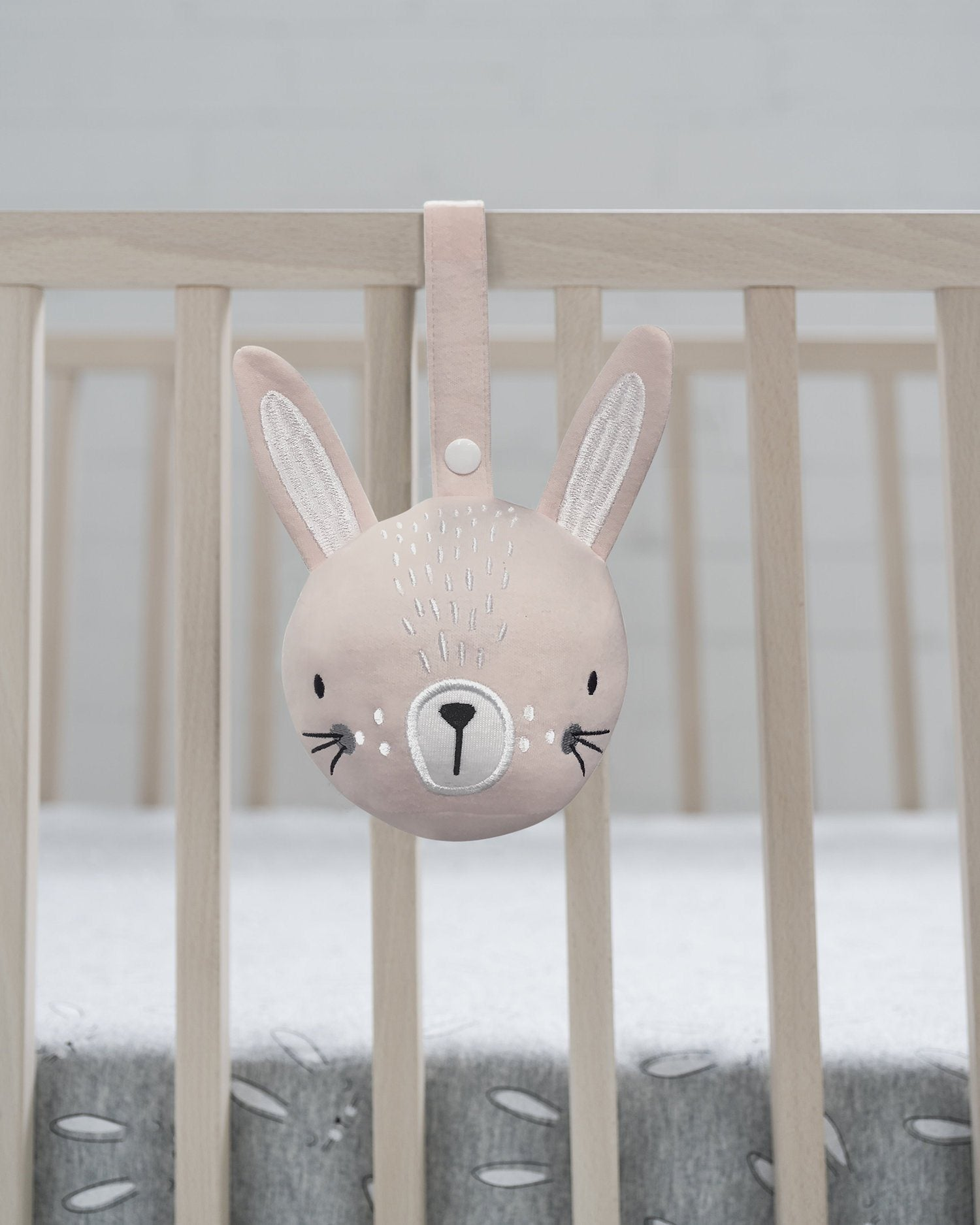 Pink Bunny Pram Rattle Ball - MisterFly