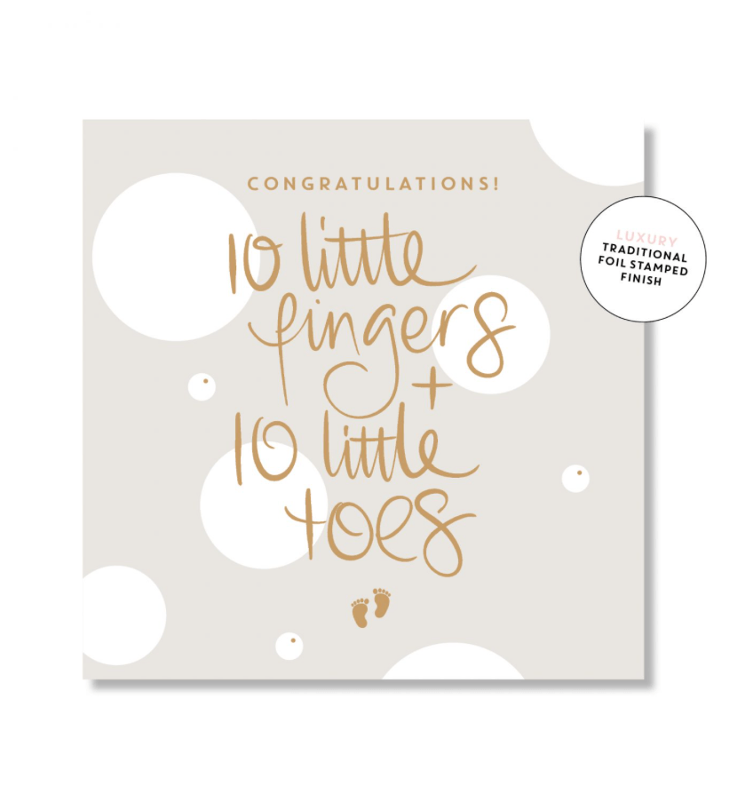 Mini Card -10 little fingers- Just Smitten