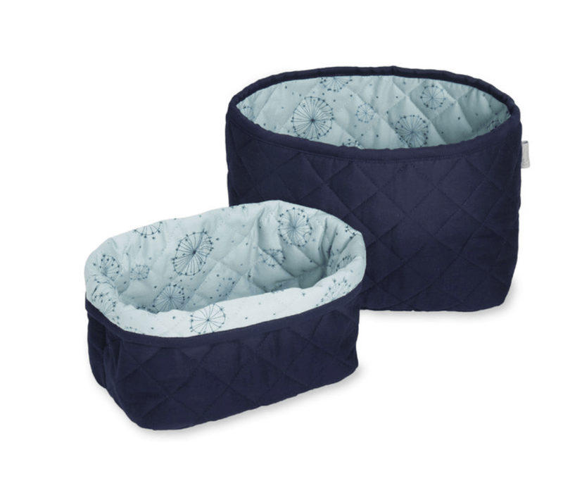 Quilted Storage basket - Navy- set of 2 -CAM CAM