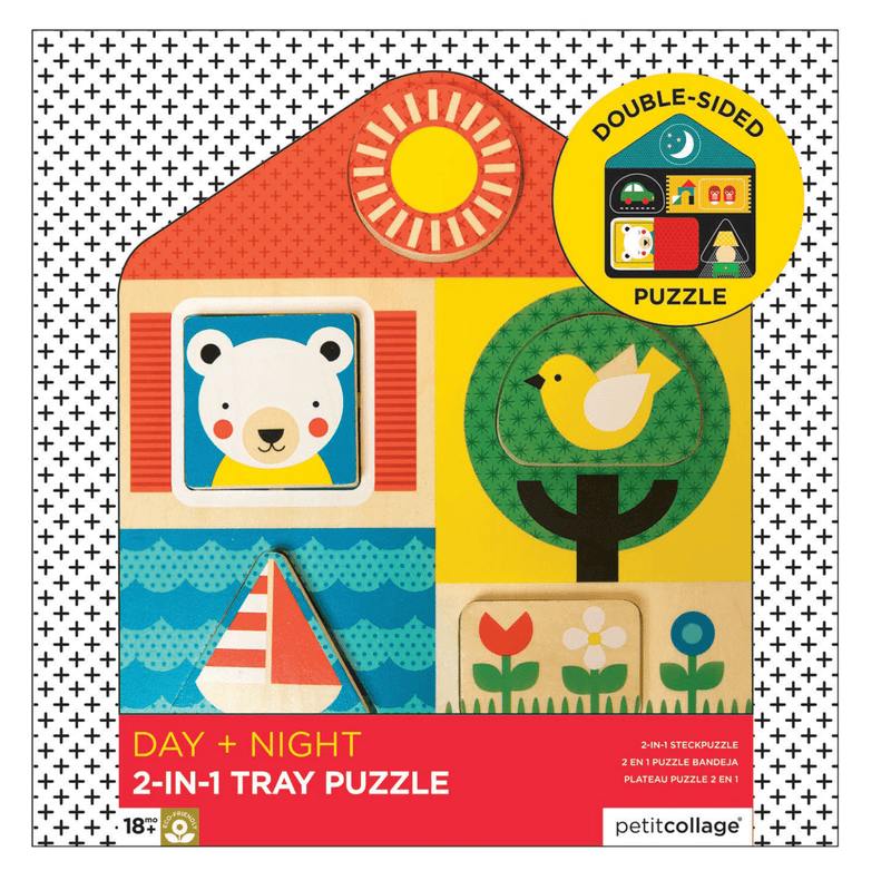 Day + Night 2 in 1 tray puzzle - Petit College