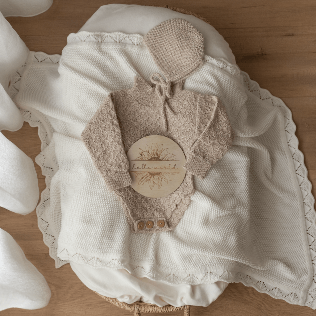 Milk Heirloom Knit Blanket - Ziggy Lou