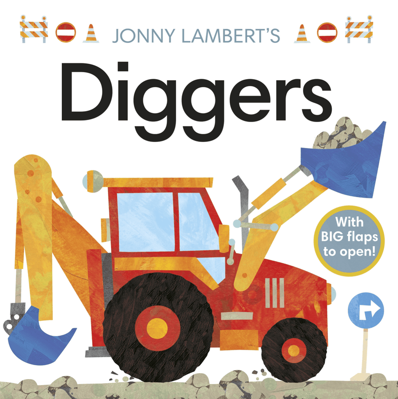 Diggers- A flap book - Kids Book