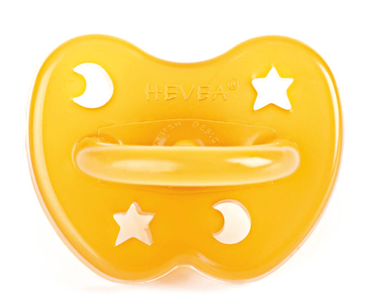 Dummy Pacifier- Orthodontic- Natural Star & Moon- 0-3 months- Hevea