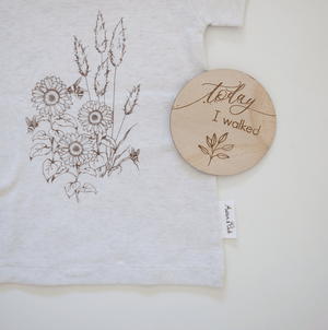 Sunflower Print Tee - Aster & Oak DISCOUNTED