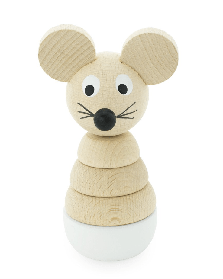 Wooden Mouse Stacking Puzzle-Hobbs- Happy Go Ducky