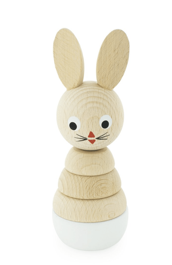 Wooden Rabbit Stacking Puzzle-Bonnie- Happy Go Ducky