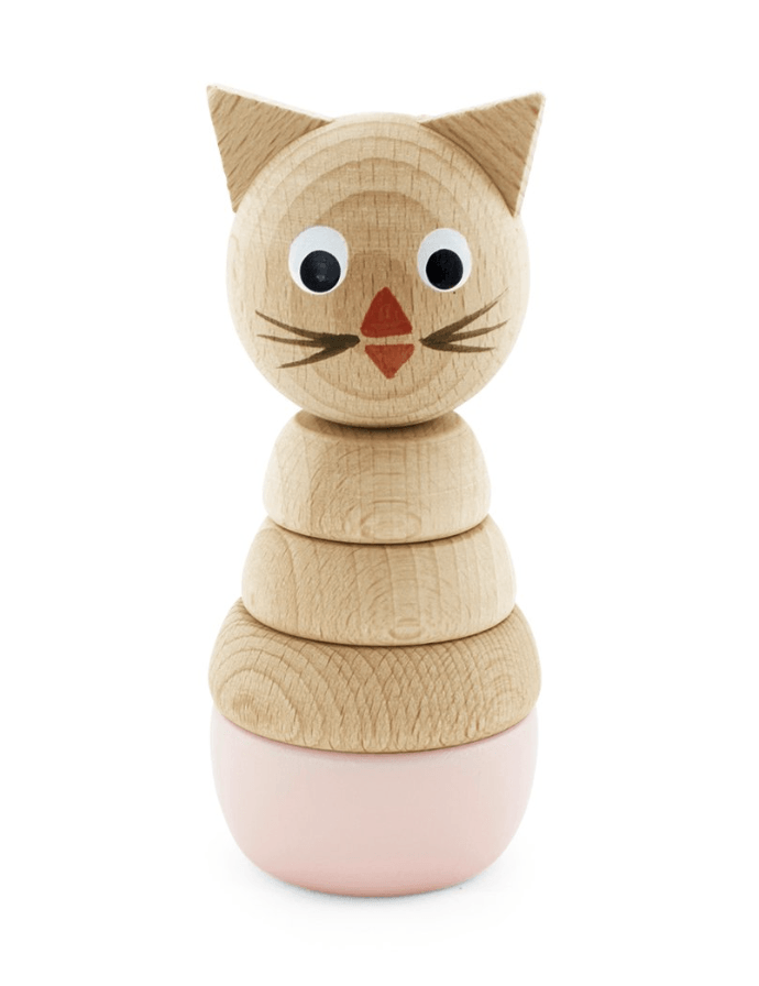 Wooden Cat Stacking Puzzle-Victoria- Happy Go Ducky