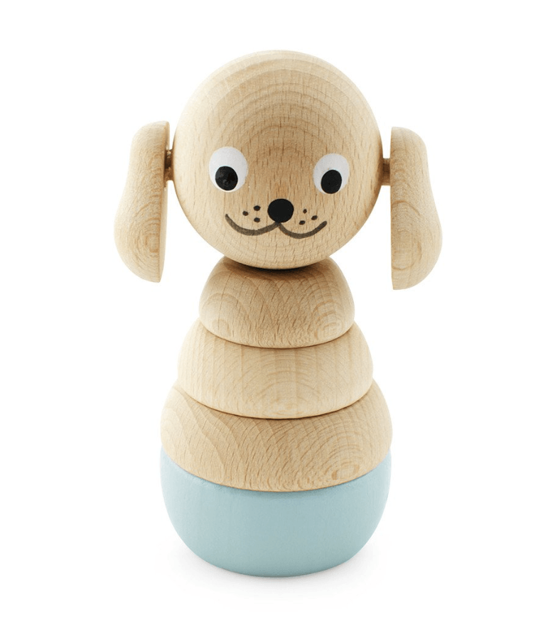 Wooden Dog Stacking Puzzle-Bella- Happy Go Ducky