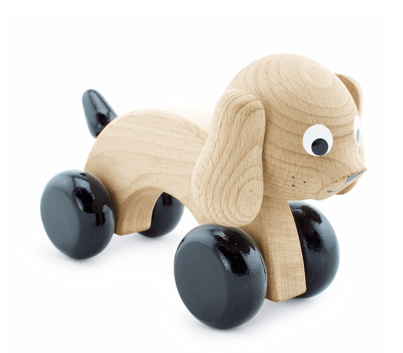 Wooden Push Toy Dog-Ivy- Happy Go Ducky