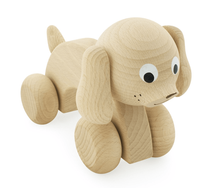 Wooden Push Toy Dog-Harley- Happy Go Ducky