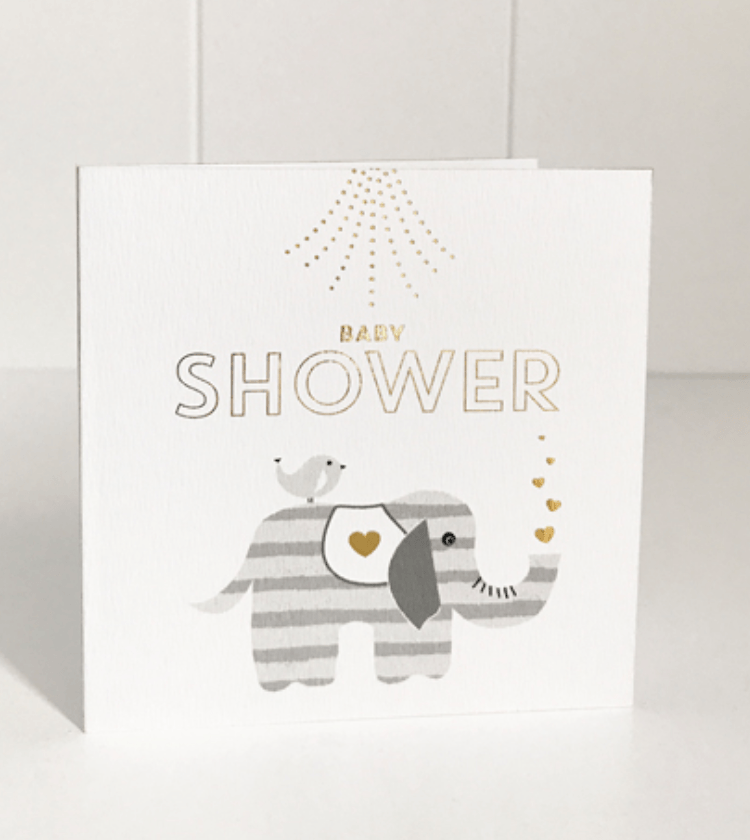 Mini Card -Baby shower elephant - Just Smitten