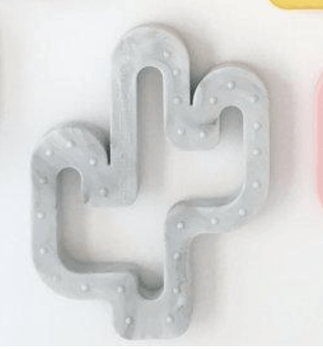 Marble silicone cactus teether