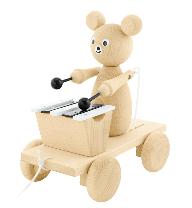 Pull Along Musical Xylophone - Bear - Happy Go Ducky