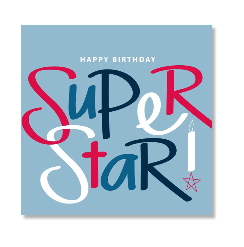 Mini Card -Super Star Birthday- Just Smitten