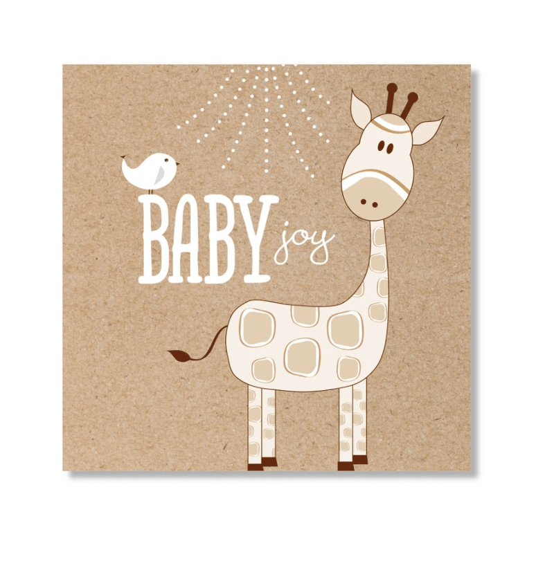 Mini Card -Baby Giraffe Neutral- Just Smitten