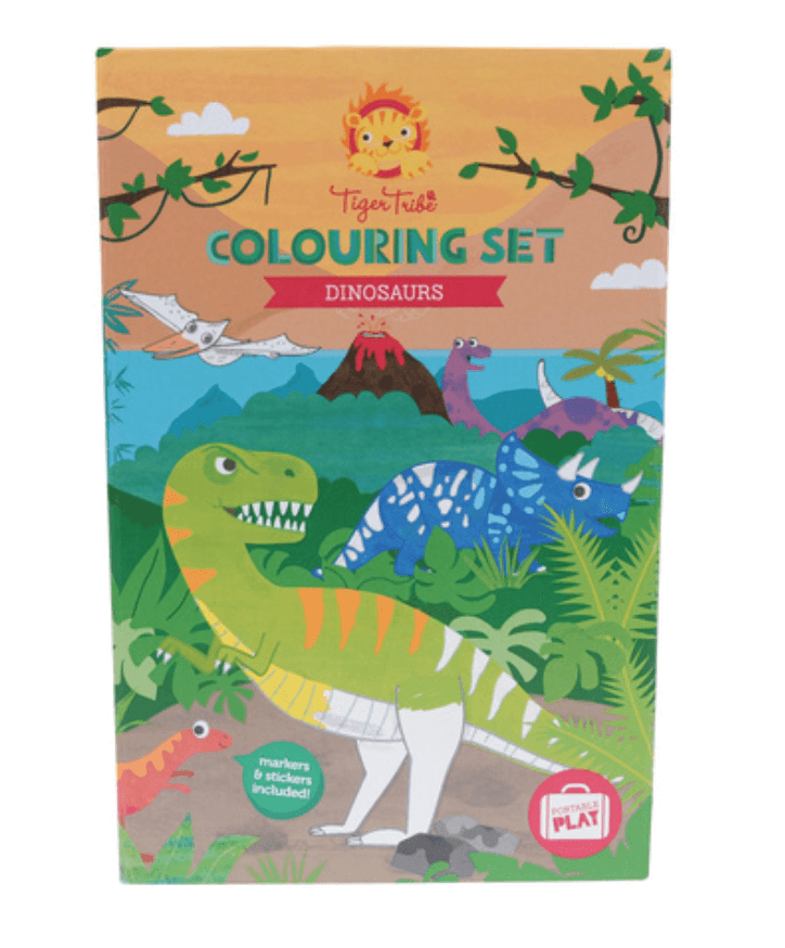 Colouring Set- Dinosaur- Tiger Tribe