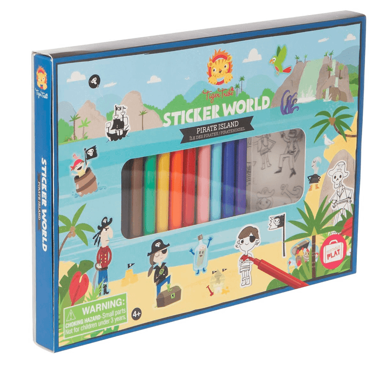 Sticker World Set- Pirate Island- Tiger Tribe