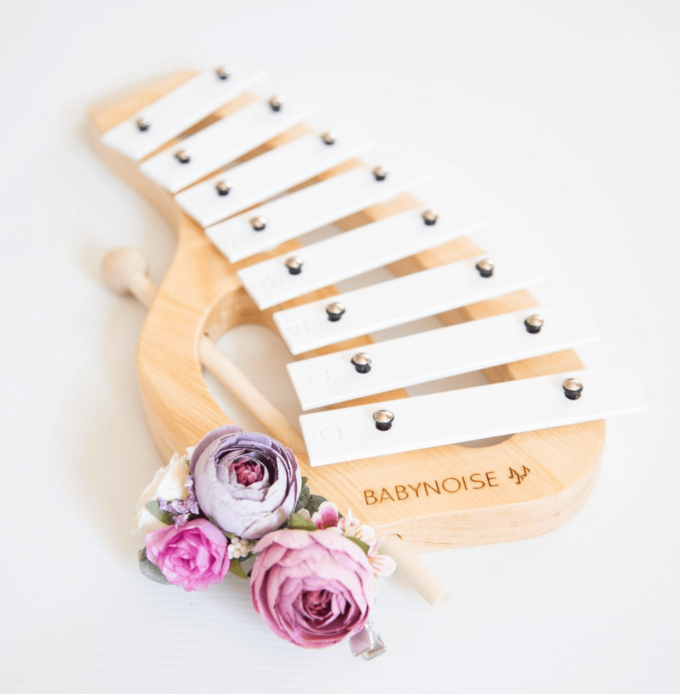 Xylophone- Natural and white- musical instrument - Baby Noise