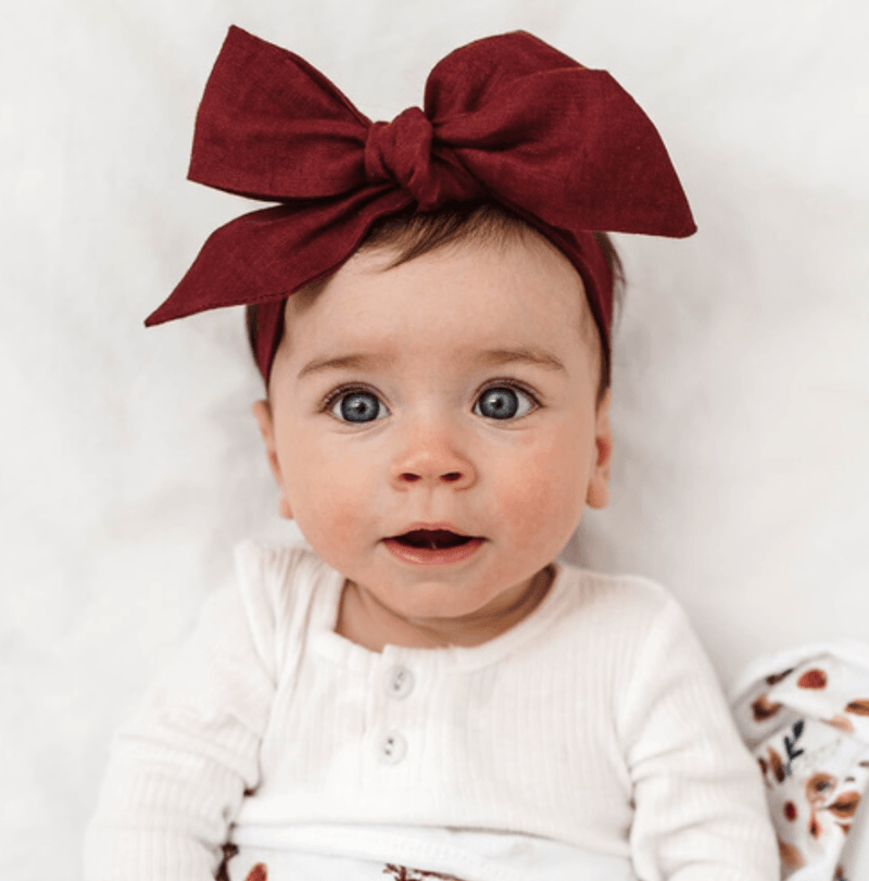 Headband Wrap - Burgundy - Snuggle Hunny Kids