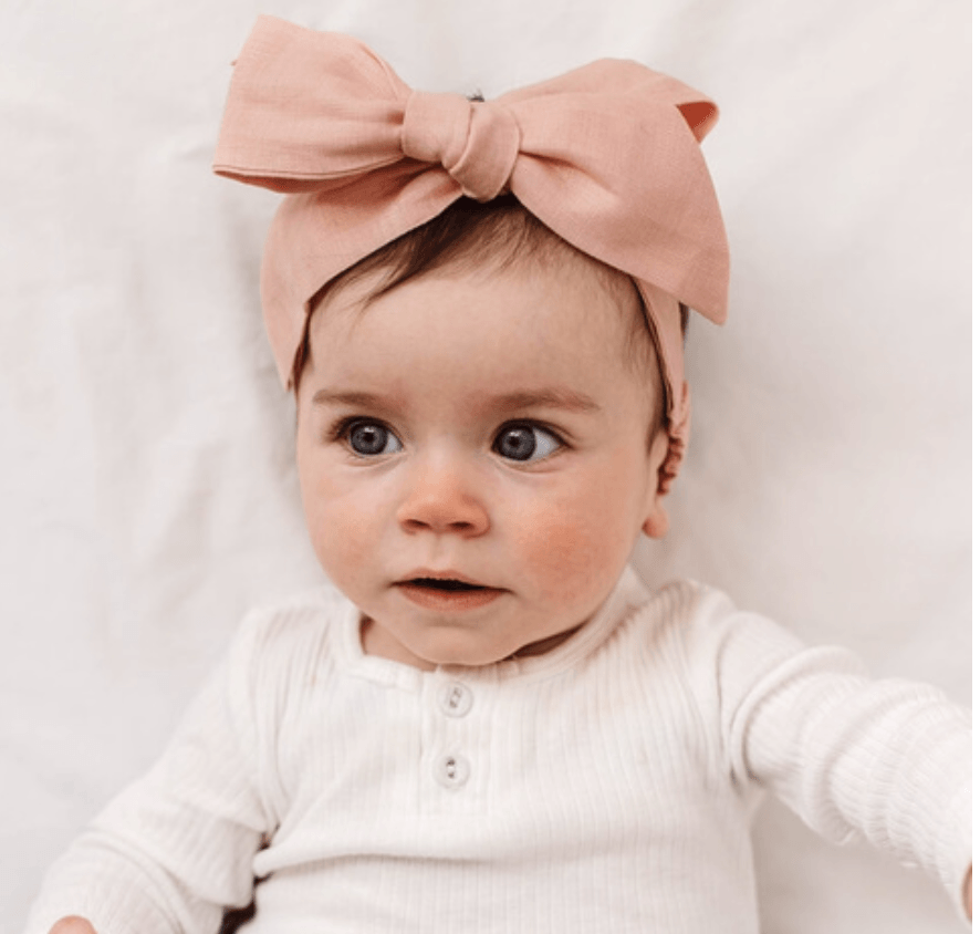Headband Wrap - Rust Linen - Snuggle Hunny Kids