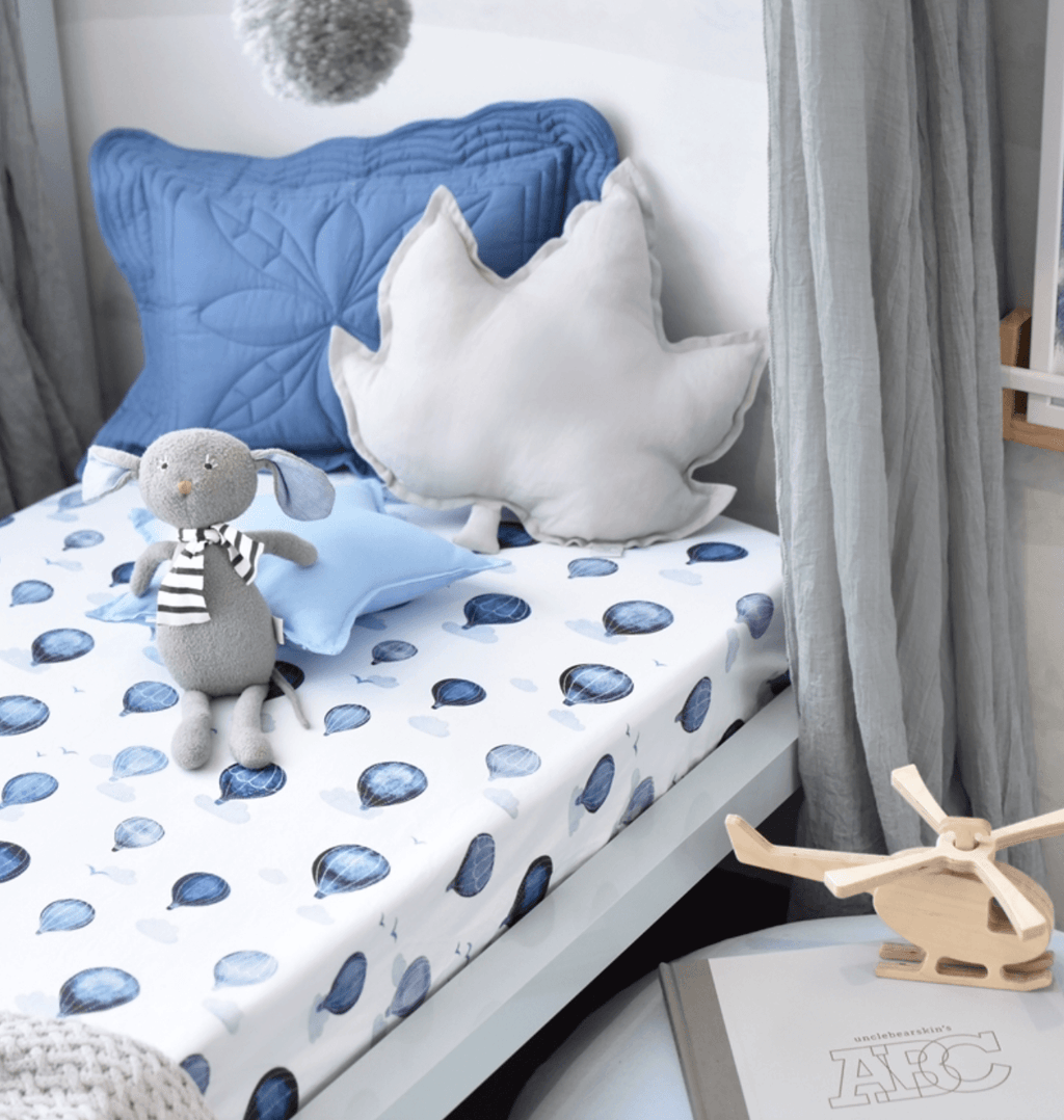 Cloud Chaser Fitted Cot Sheet- Snuggle Hunny Kids
