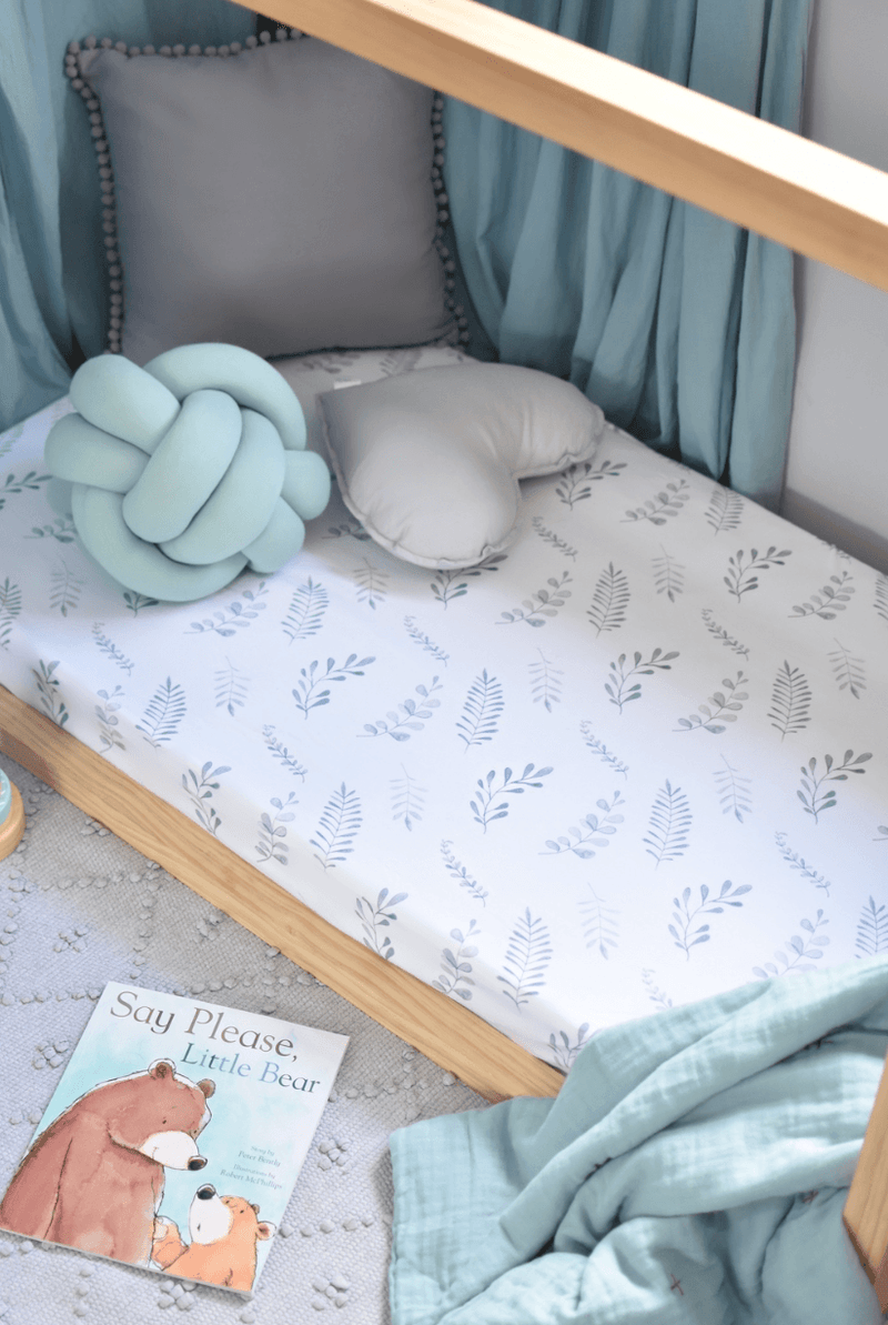 Wild Fern Fitted Cot Sheet- Snuggle Hunny Kids